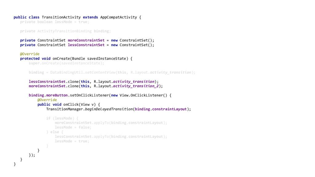 public class TransitionActivity extends AppComp...