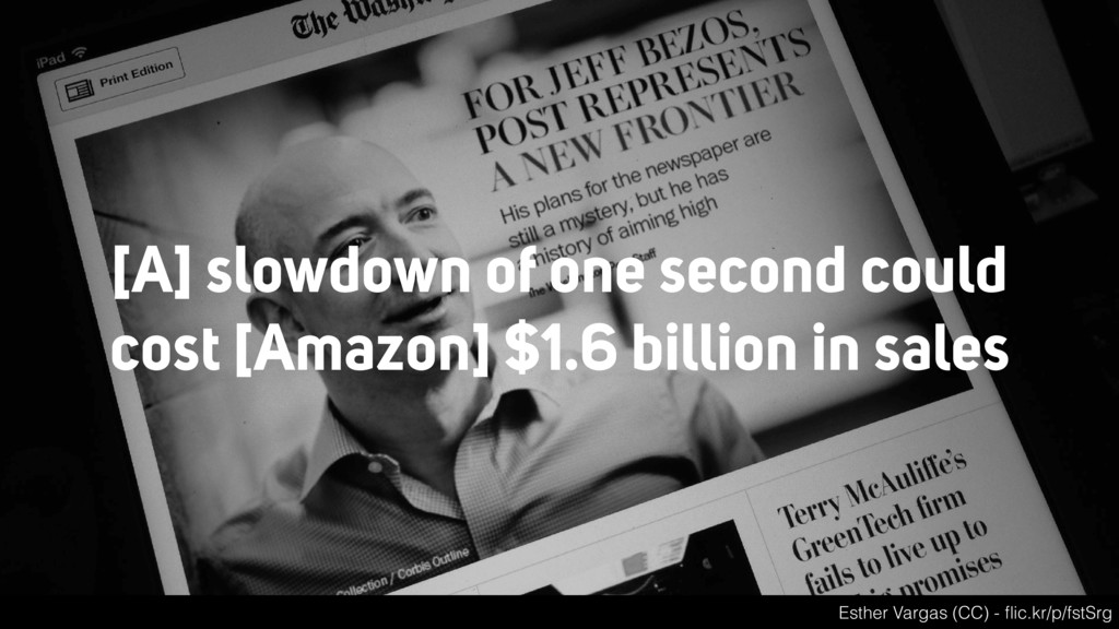[A] slowdown of one second could cost [Amazon] ...