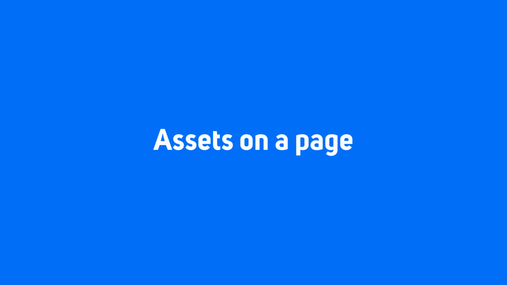 Assets on a page