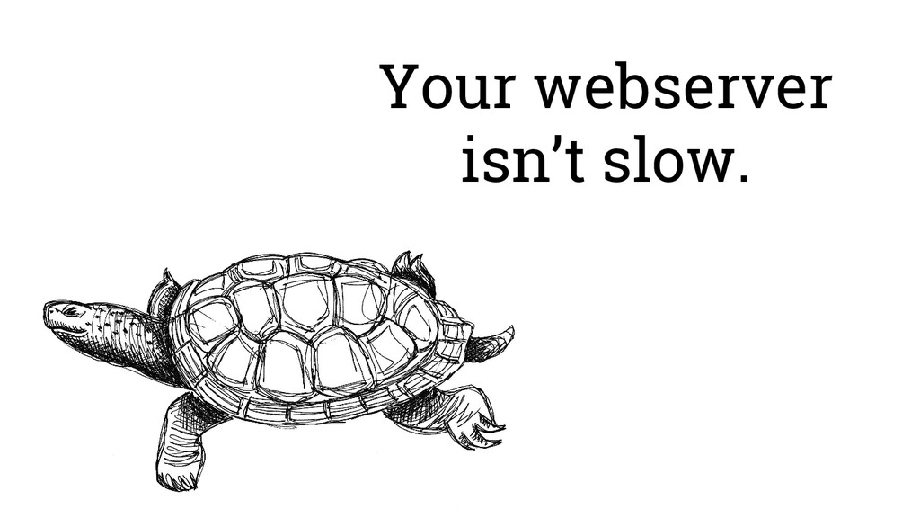 Your webserver isn't slow.