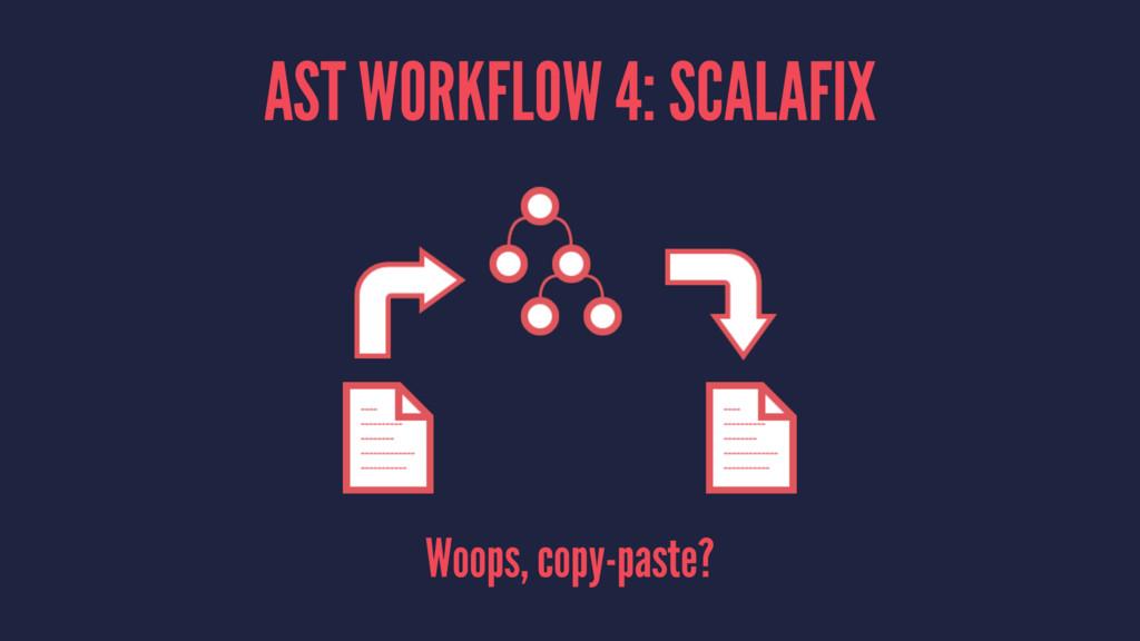 AST WORKFLOW 4: SCALAFIX Woops, copy-paste?