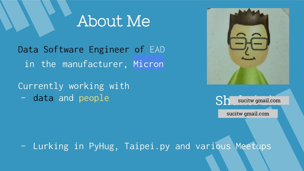 About Me Data Software Engineer of EAD in the m...