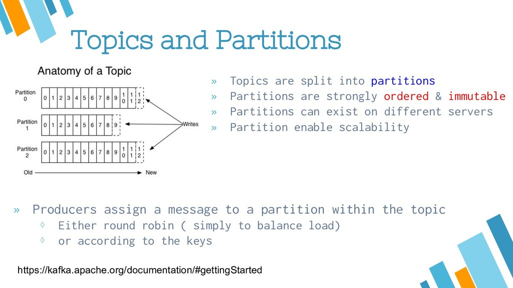 Topics and Partitions » Topics are split into p...