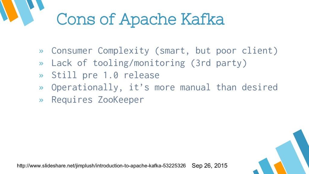 Cons of Apache Kafka » Consumer Complexity (sma...
