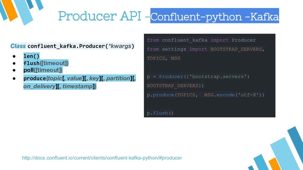 Producer API -Confluent-python -Kafka from conf...