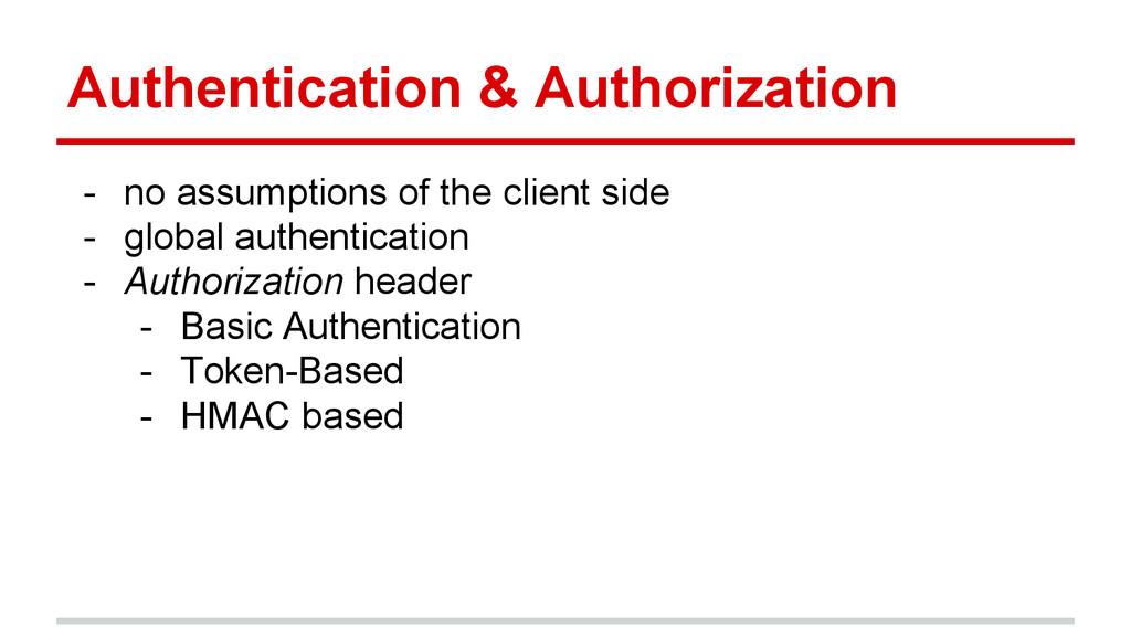 Authentication & Authorization - no assumptions...