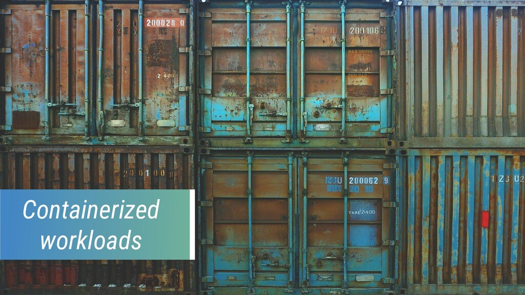 Containerized workloads