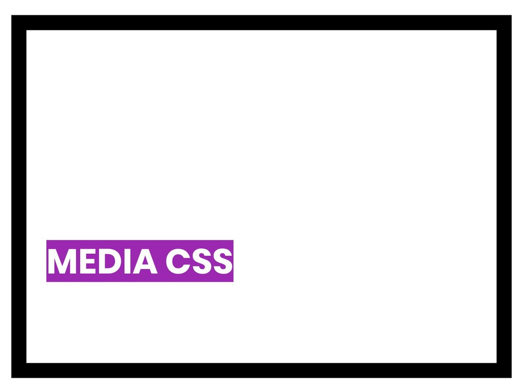 MEDIA CSS