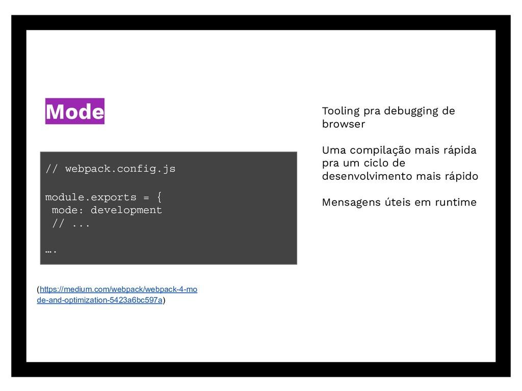 Tooling pra debugging de browser Uma compilação...