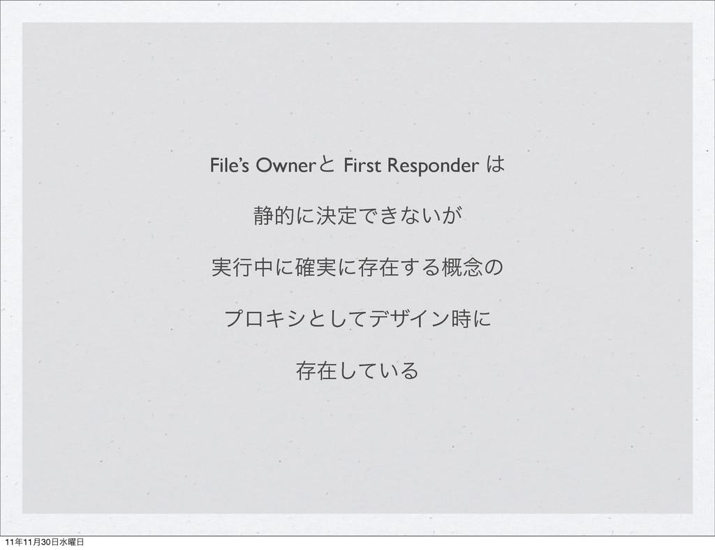 File's Ownerͱ First Responder  ੩తʹܾఆͰ͖ͳ͍͕ ࣮ߦதʹ...