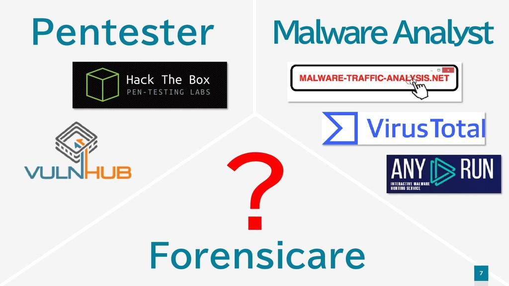 7 ? Malware Analyst Pentester Forensicare