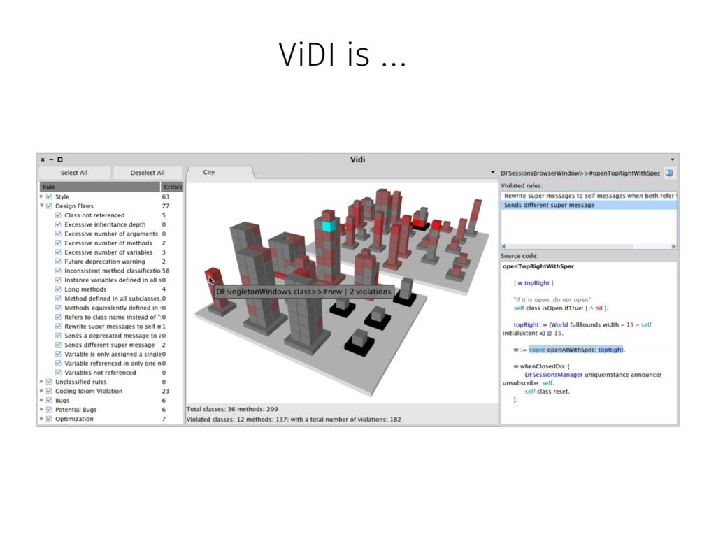 ViDI is …