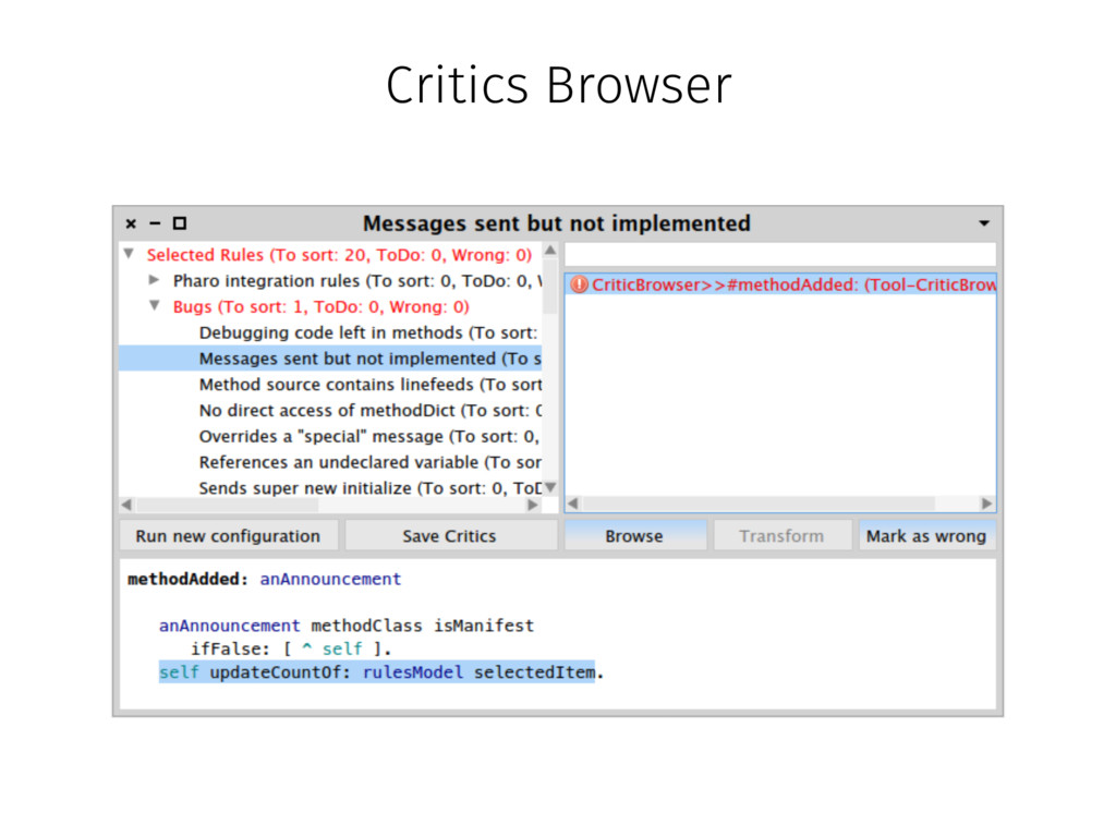 Critics Browser