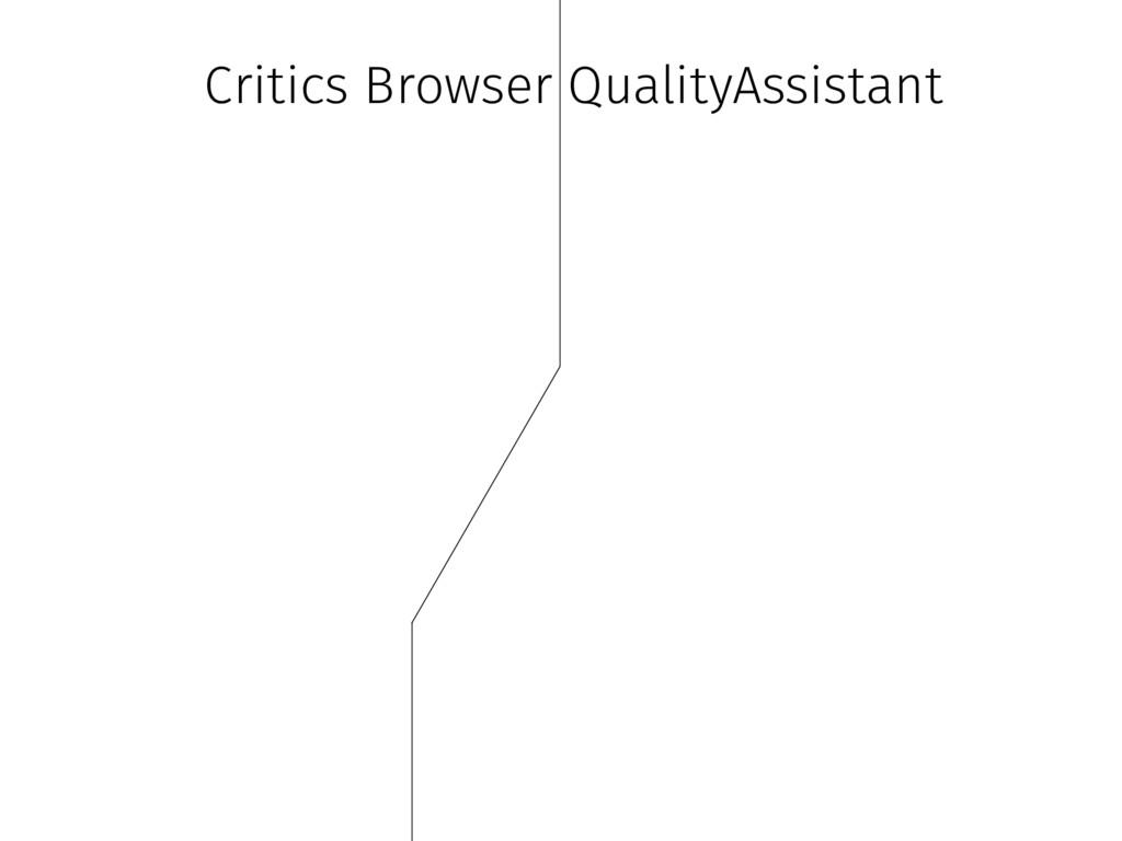 Critics Browser QualityAssistant