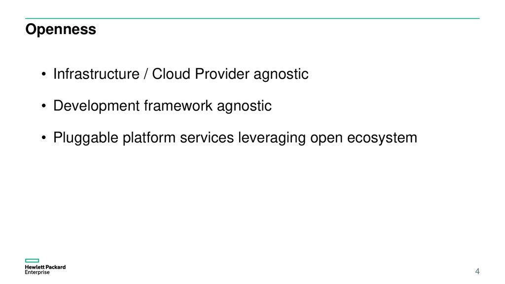 Openness 4 • Infrastructure / Cloud Provider ag...