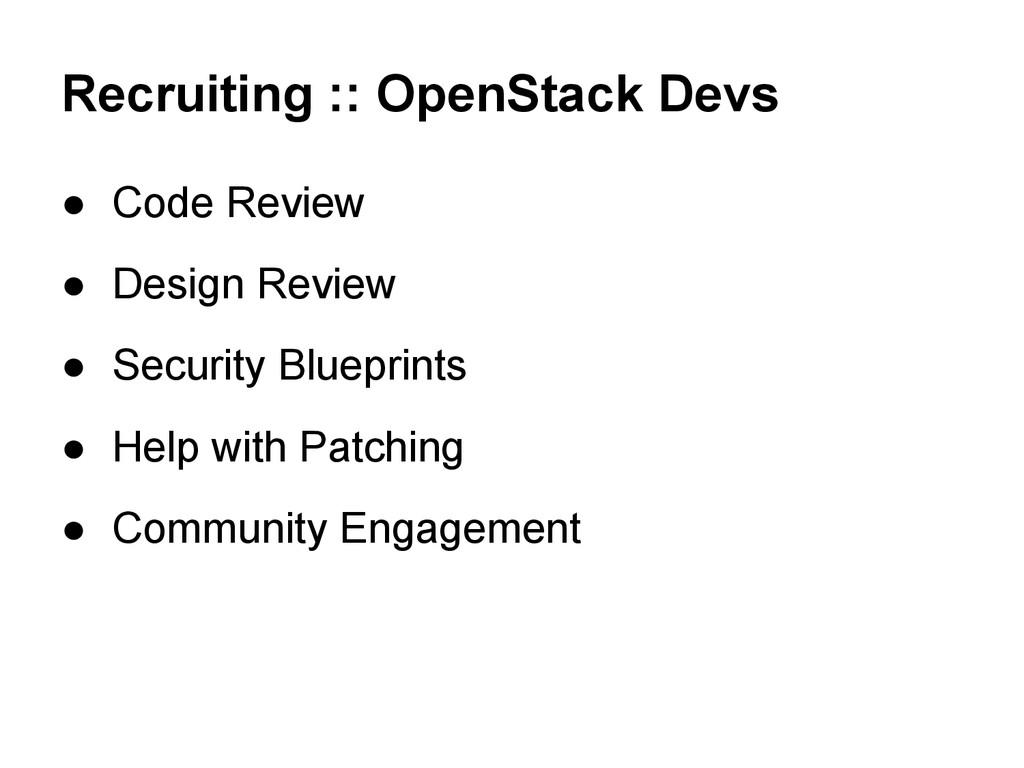 Recruiting :: OpenStack Devs ● Code Review ● De...