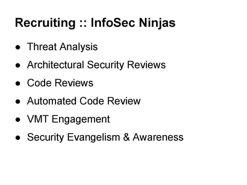 Recruiting :: InfoSec Ninjas ● Threat Analysis ...