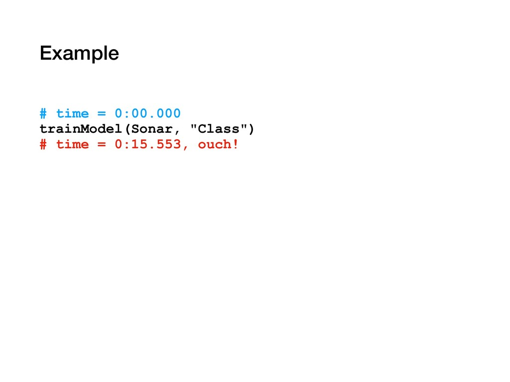 """Example # time = 0:00.000 trainModel(Sonar, """"Cl..."""