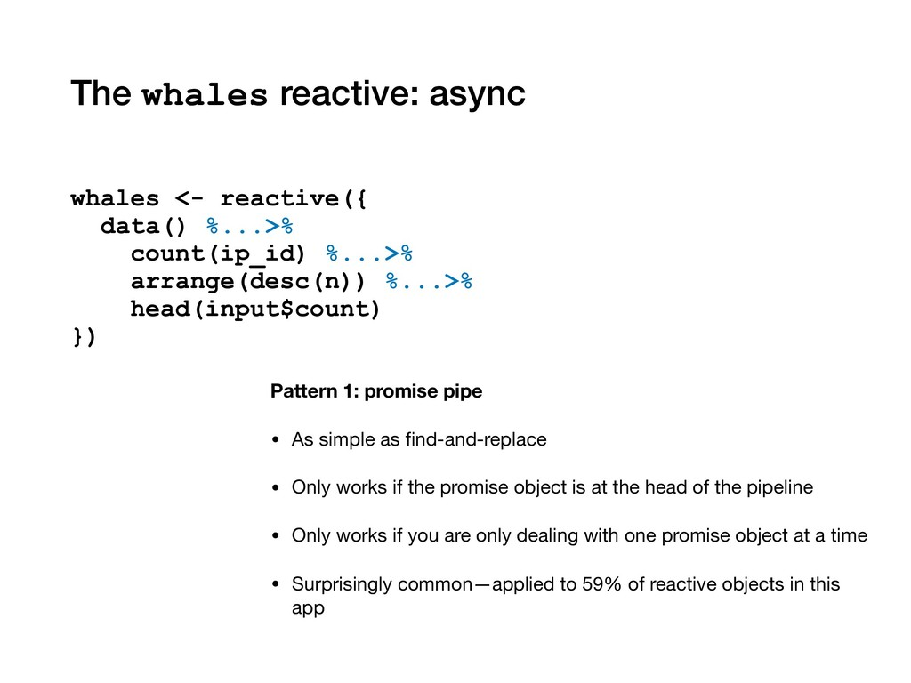The whales reactive: async Pattern 1: promise p...