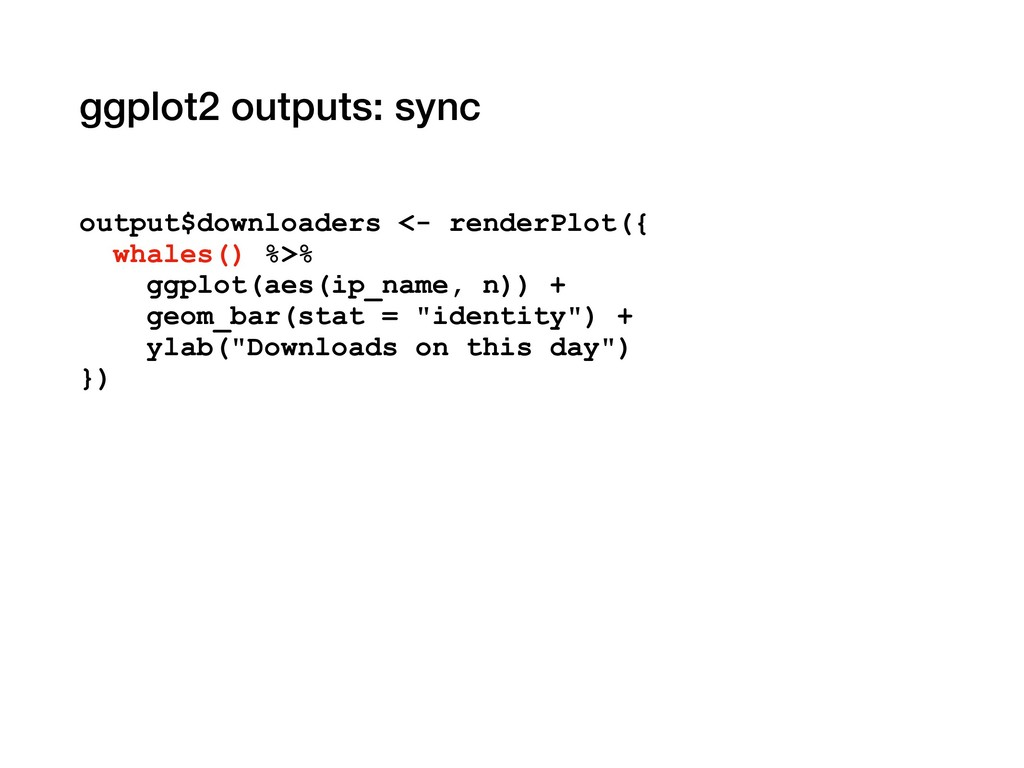 ggplot2 outputs: sync output$downloaders <- ren...