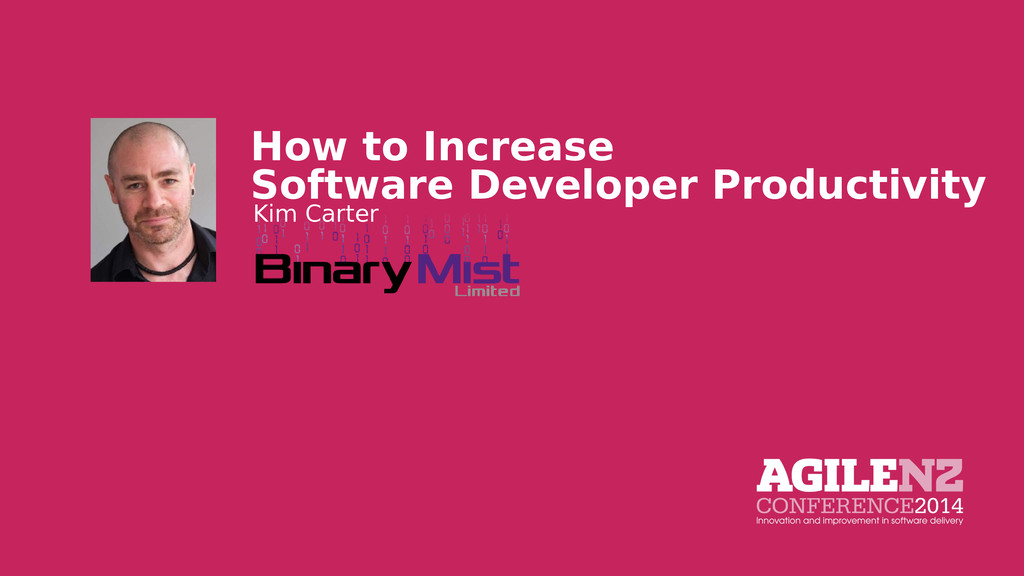 How to Increase Software Developer Productivity...