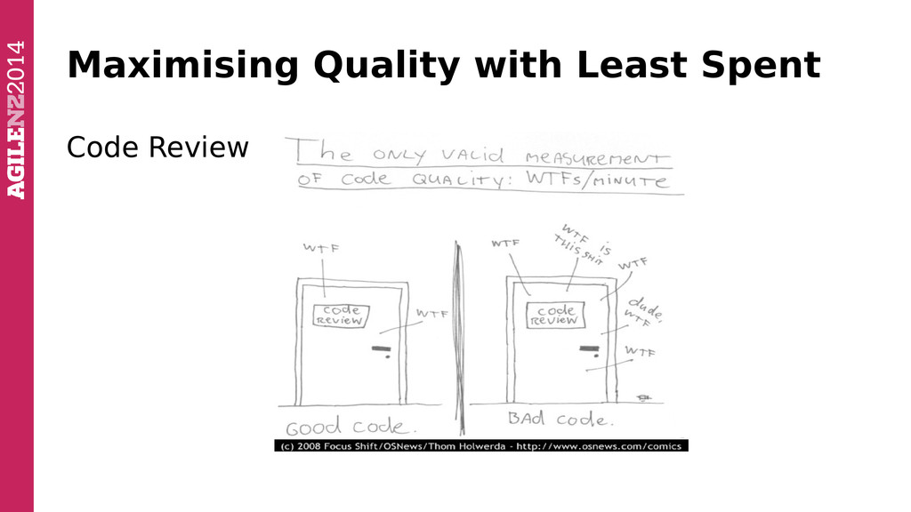 Maximising Quality with Least Spent Code Review