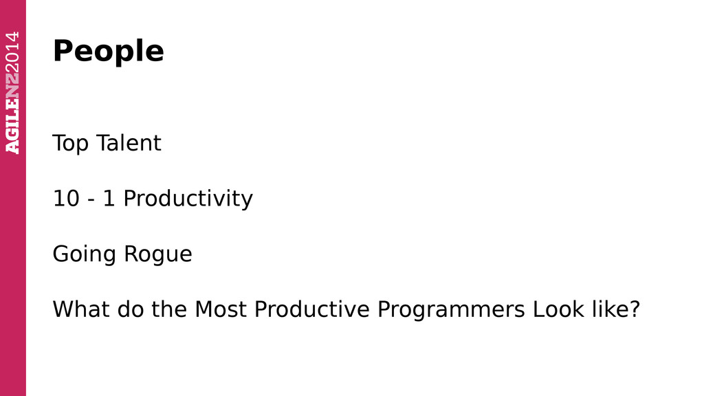 People Top Talent 10 - 1 Productivity Going Rog...