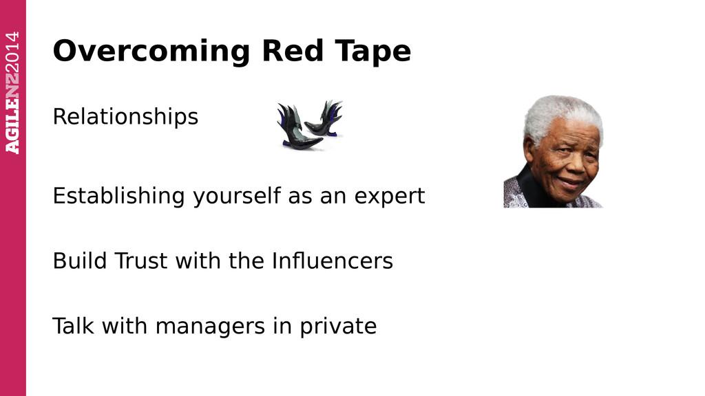 Overcoming Red Tape Relationships Establishing ...