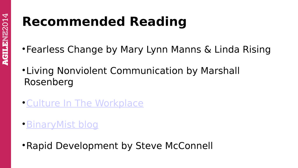Recommended Reading  Fearless Change by Mary L...