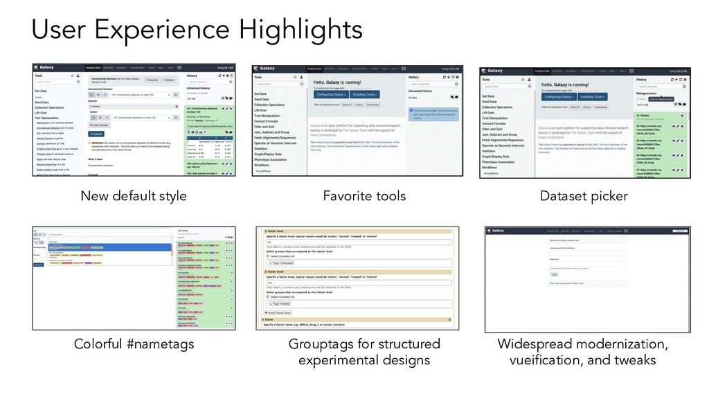User Experience Highlights New default style Fa...