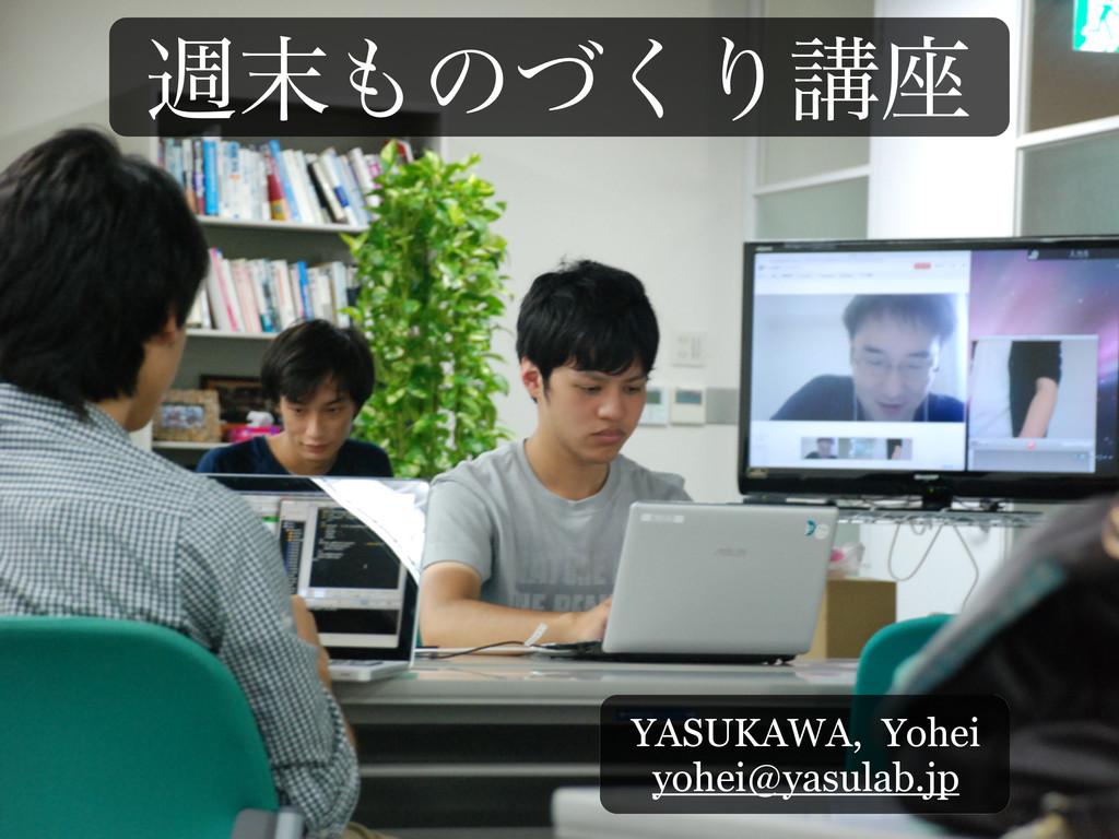 िͷͮ͘Γߨ࠲ YASUKAWA, Yohei yohei@yasulab.jp