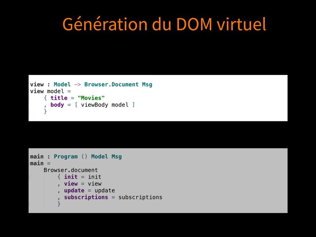 Génération du DOM virtuel