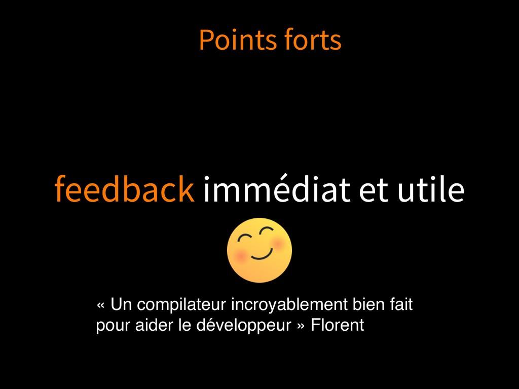 feedback immédiat et utile « Un compilateur inc...