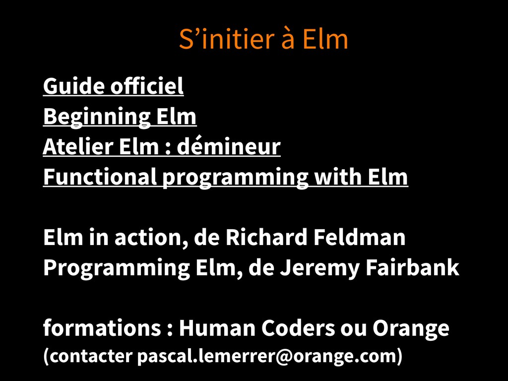 Guide officiel Beginning Elm Atelier Elm : démin...