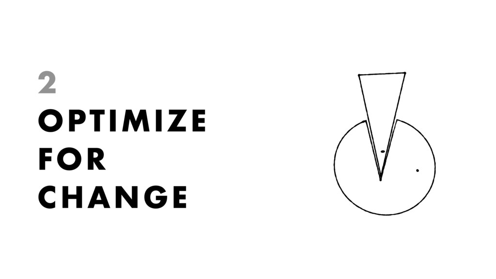 2 OPTIMIZE FOR CHANGE