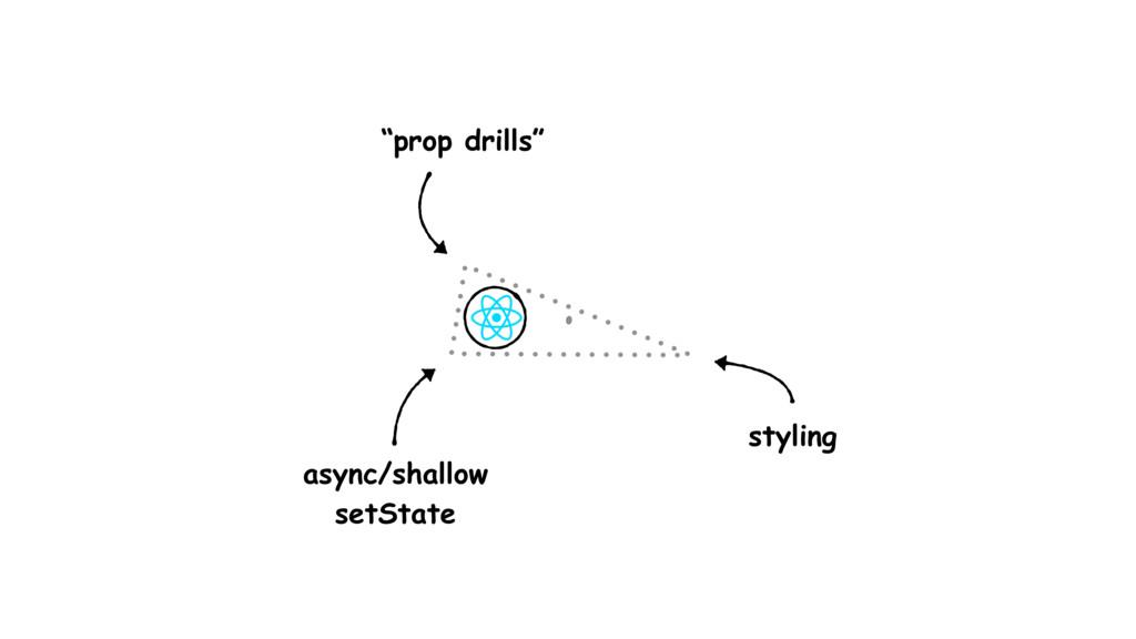 "async/shallow setState ""prop drills"" styling"