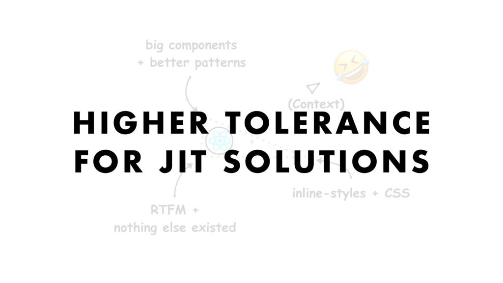 (Context)  big components + better patterns RTF...