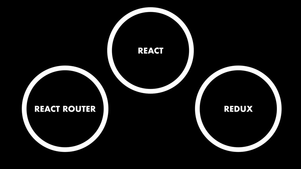 REACT REDUX REACT ROUTER