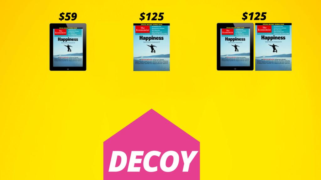 $59 $125 $125 $125 $125 $125 DECOY