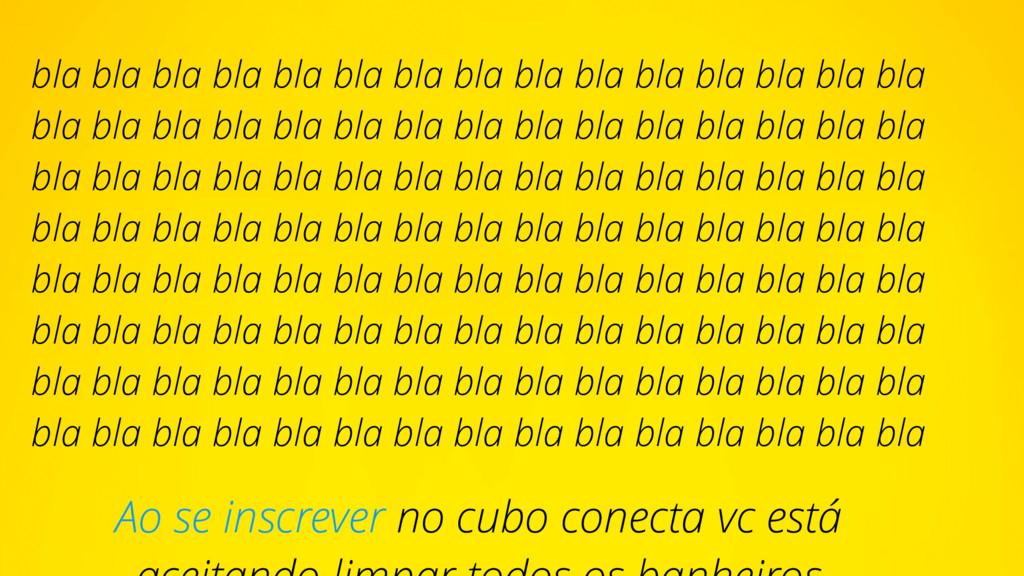Ao se inscrever no cubo conecta vc está bla bla...