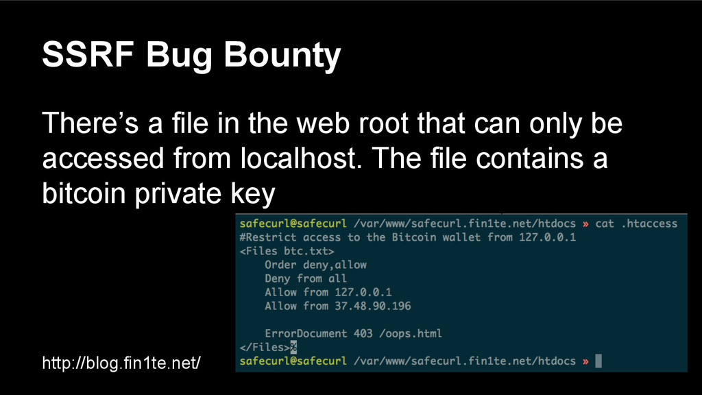 SSRF Bug Bounty There's a file in the web root ...