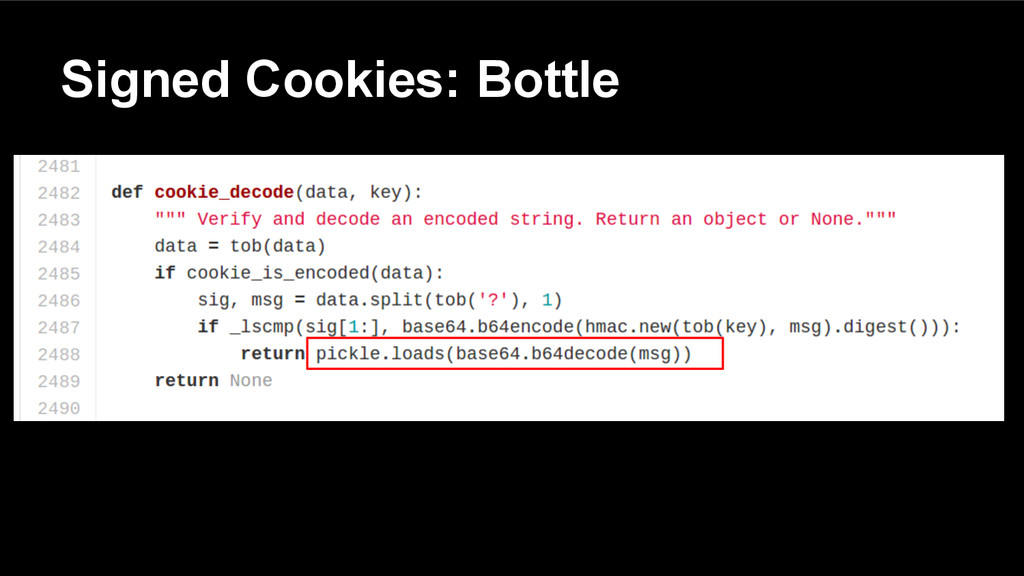 Signed Cookies: Bottle