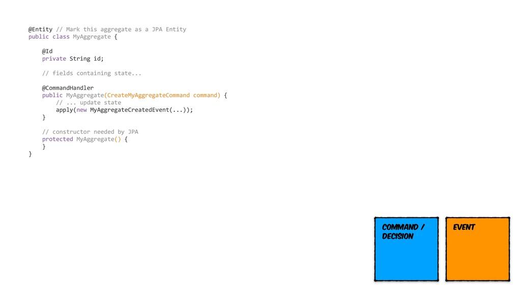 @Entity // Mark this aggregate as a JPA Entity ...
