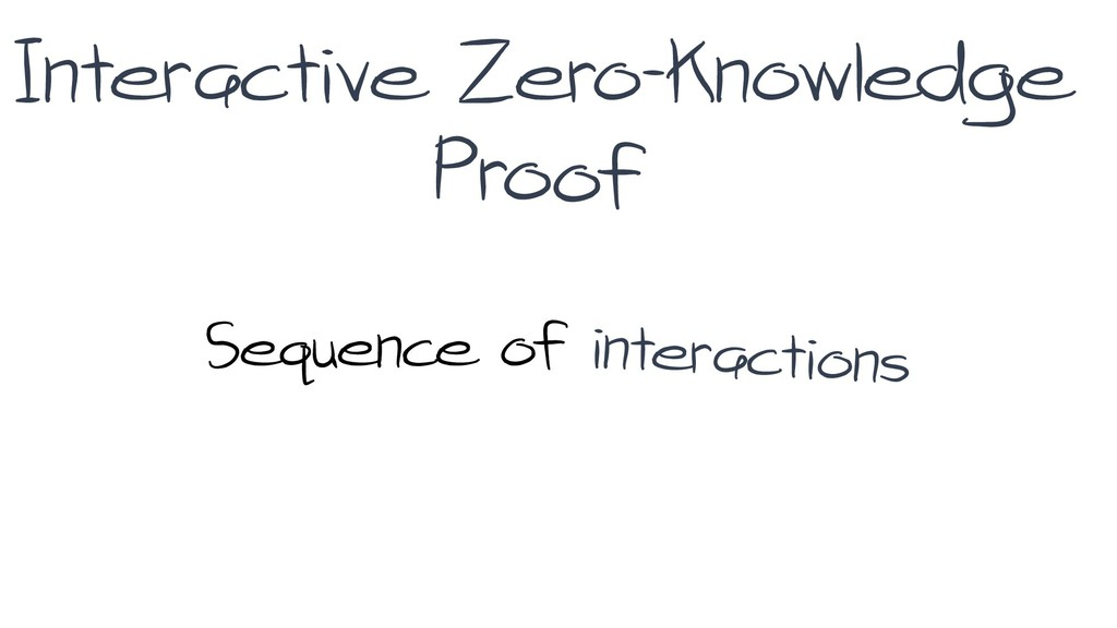 Interactive Zero-knowledge Sequence of