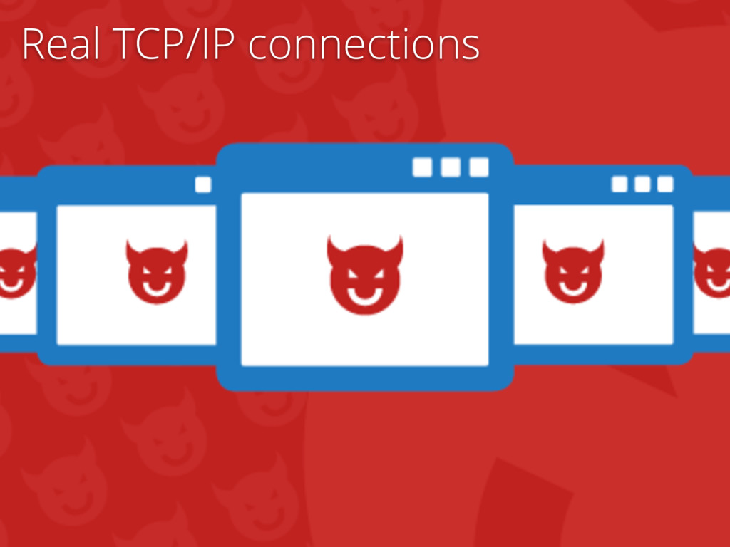 50 Real TCP/IP connections