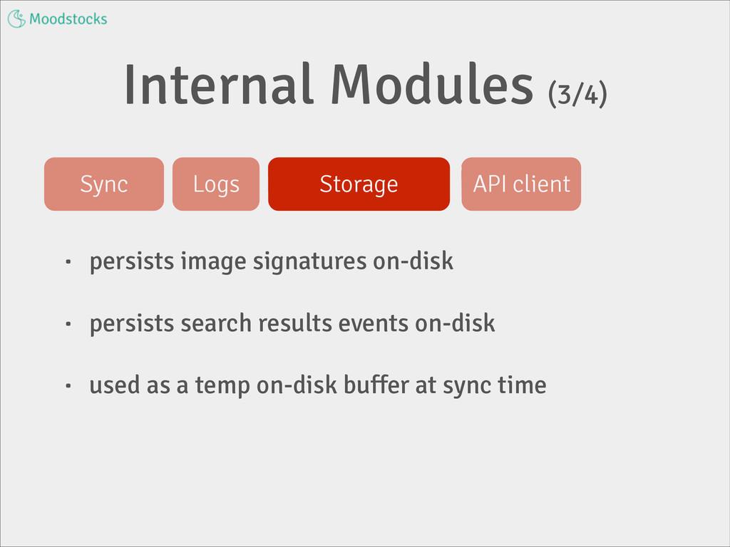 Internal Modules (3/4) • persists image signatu...