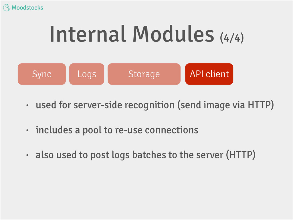 Internal Modules (4/4) • used for server-side r...