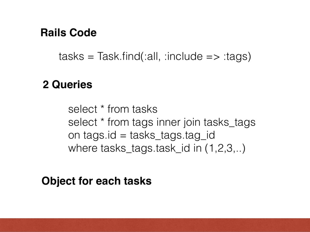 select * from tasks select * from tags inner jo...