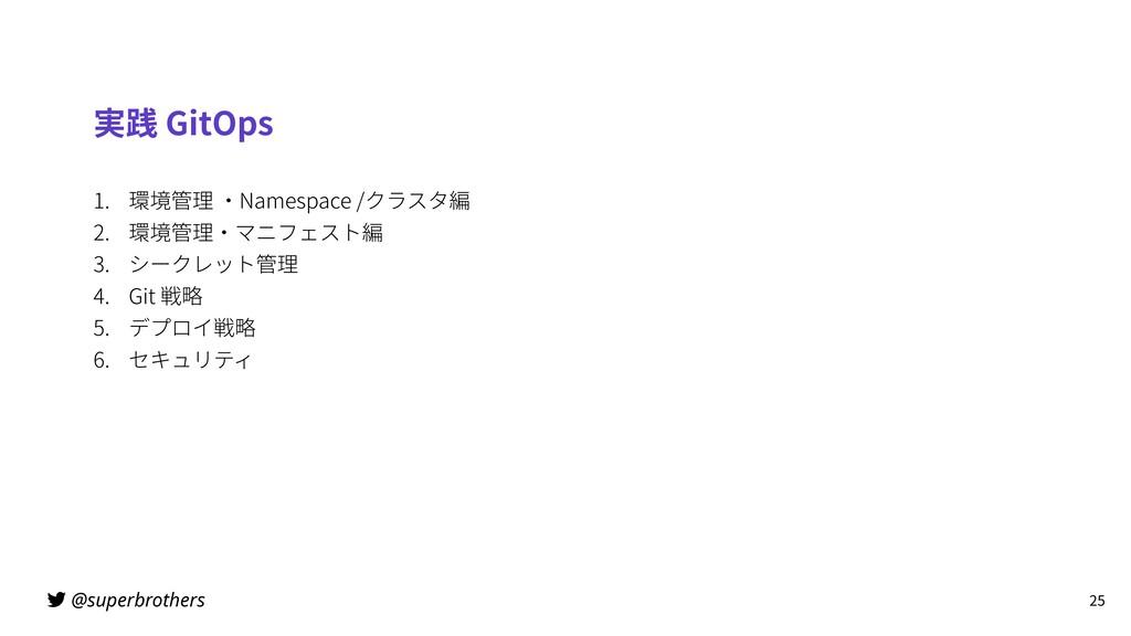 @superbrothers 実践 GitOps 1. 環境管理 ・Namespace /クラ...