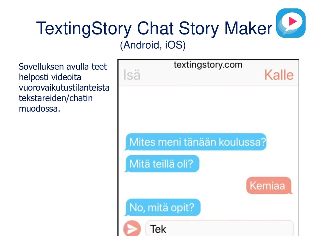 TextingStory Chat Story Maker (Android, iOS) So...